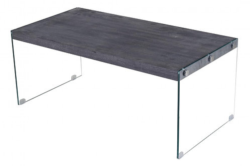 Titan Coffee Table with Glass Sides Black Walnut