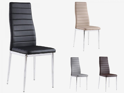 Pearl PU Chairs with Chrome Legs
