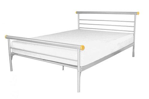 Celine Bed Double Silver