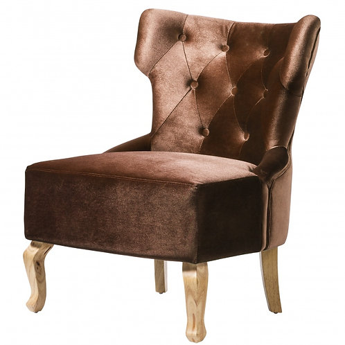 Norton Velvet Chair Brown