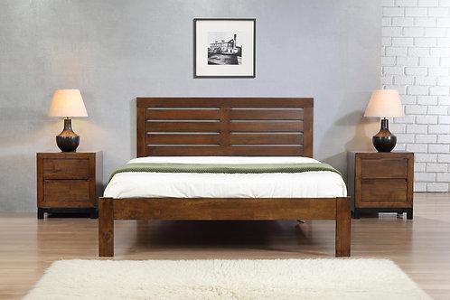 Vulcan King Size Bed Rustic Oak
