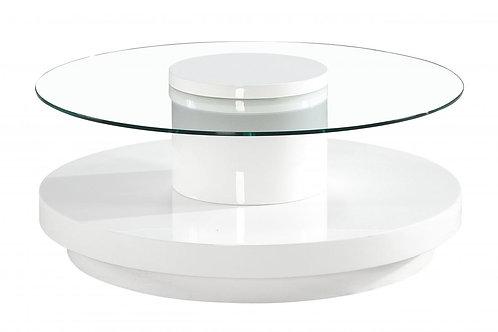 Nebula Coffee Table Round White High Gloss