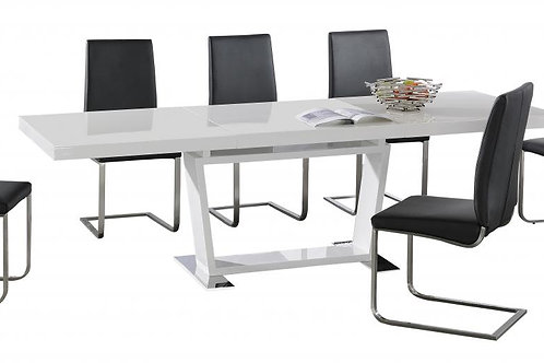 Maxwell Extending Dining Table with Stainless Steel Base