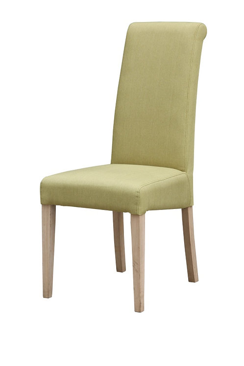 Hanbury Fabric Chair Solid Rubberwood Olive