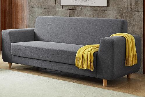 Fida Fabric 3 Seater Sofa Dark Grey