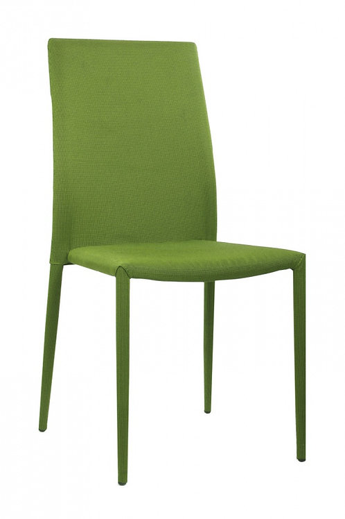 Chatham Fabric Chair Green with Green Metal Legs