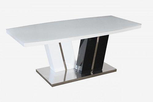Titus Super White Glass Coffee Table White & Black