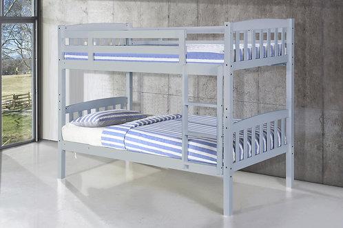 Ashbrook Solid Wood Bunk Bed Grey