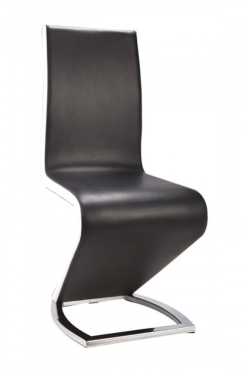 Aldridge Dining Chair Black with White PU Sides