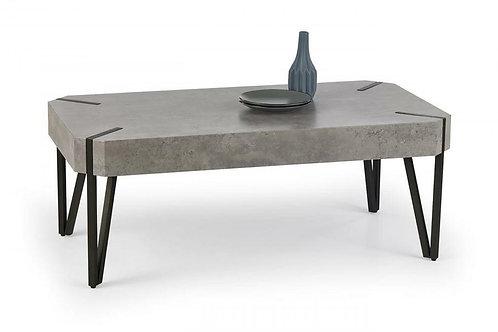 Matador Coffee Table Stone with Black Metal Legs