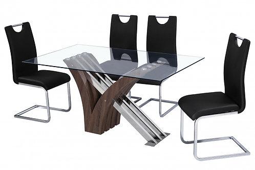 Caspian PU Chair Chrome & Black