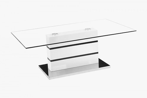 Yoki Glass Coffee Table White & Black