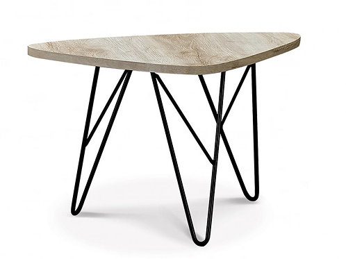 Mersey Coffee Table Natural with Black Metal Legs