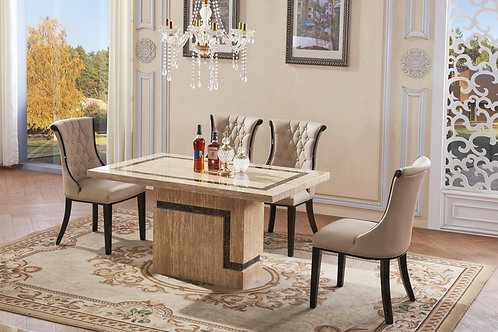 Potenza Marble Dining Set with 6 Chairs