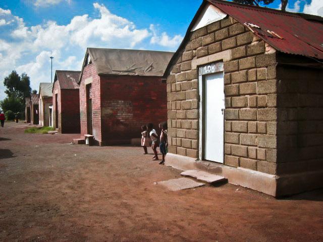 Former mine houses