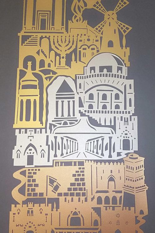 Jerusalem of Gold Copper & Light