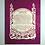Shabbat candle blessing- ברכת נרות שבת marble paper cutout on dark pink background