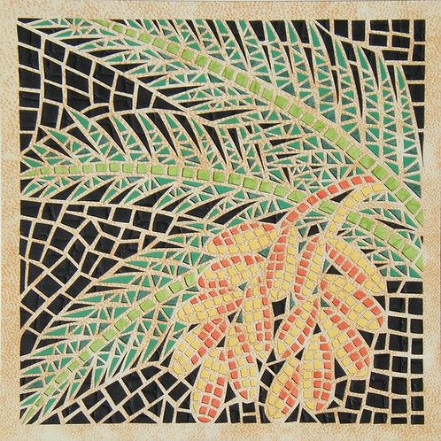 Mosaic cutout - Date- פסיפס תמר, חיתוך