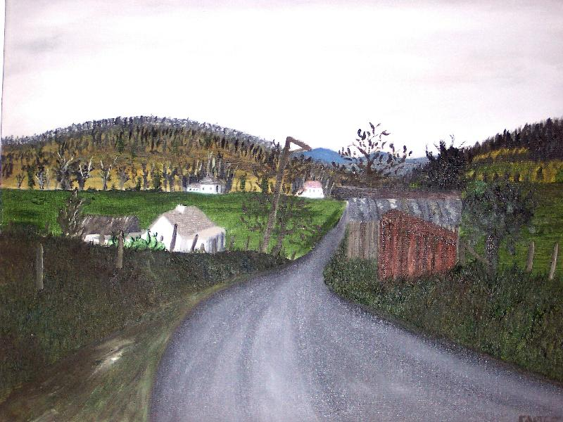 Coast Range Road, 16x20, $225