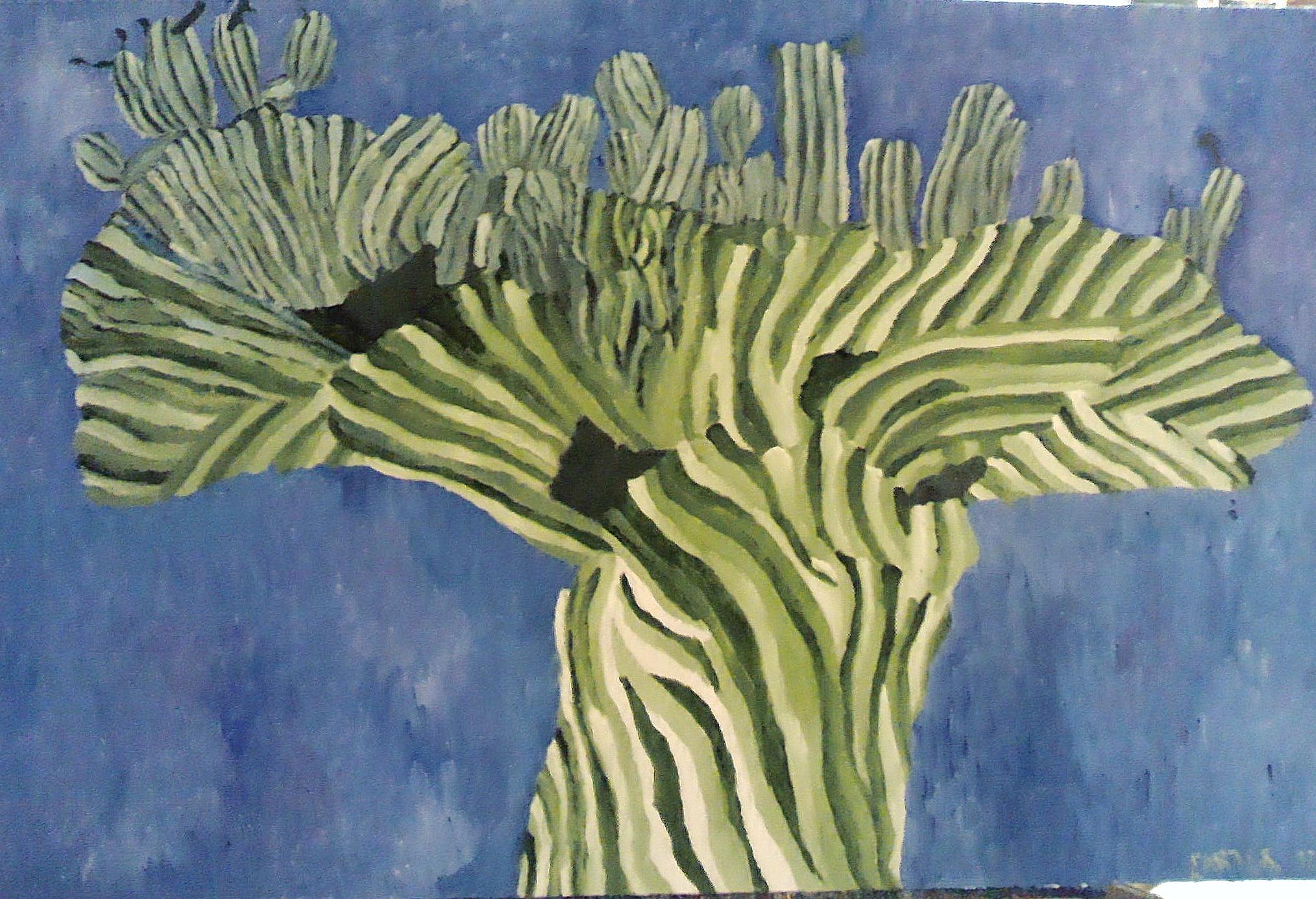 Cactus, 24x30, $450