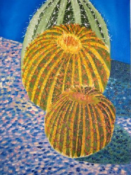 Barrel Cactus, 24x36, $450