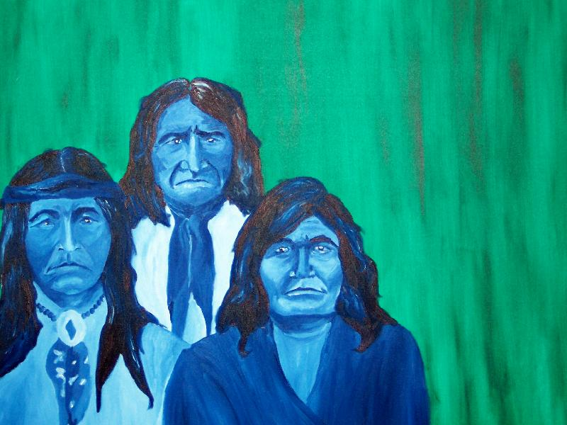 Three Apaches, 36x48, $450