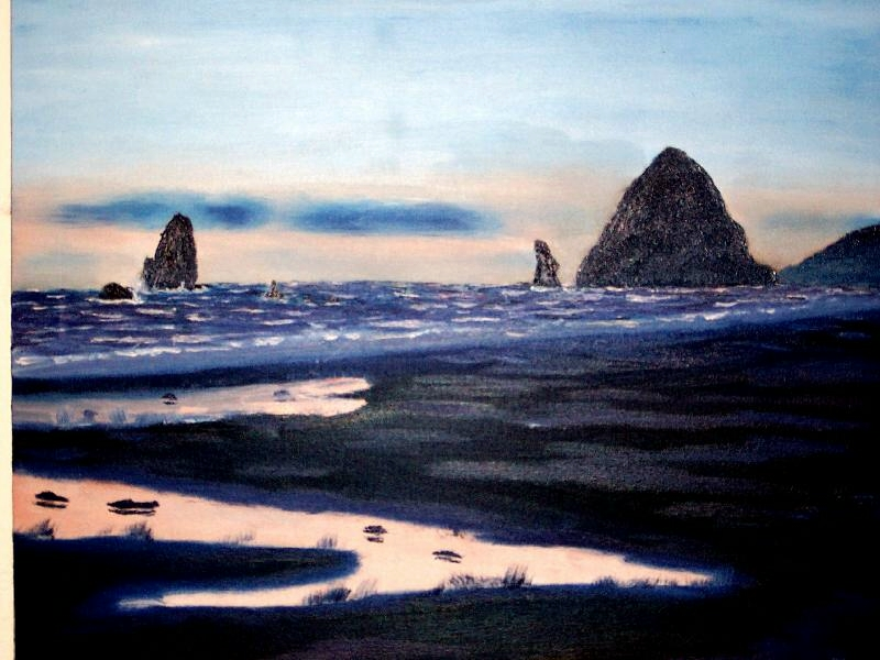 Cannon Beach Reflection, $250