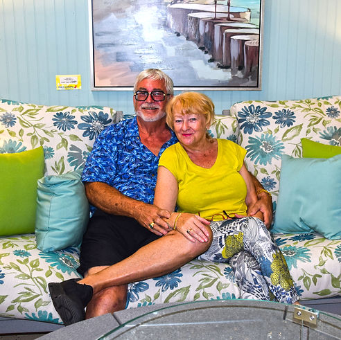 Paul and Mary Maki are the founders of Porch Concepts Sunroom and Outdoor furniture in Wilmington NC. We specialize in porch furniture, patio furniture, sunroom furniture, and casual furniture for New Hanover County, Pender County, Onslow County and Brunswick County.