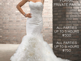 LAST MINUTE WEDDING PRICING!