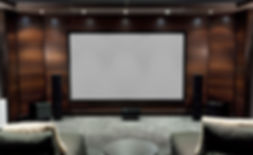 Custom Home Theater design services in Porters Neck NC and Hampstead NC that offers Sony projectors, surround sound systems, and acoustic transparent screen installations all completed by the CEDIA Certified audio video technicians at Connected Home Inc.