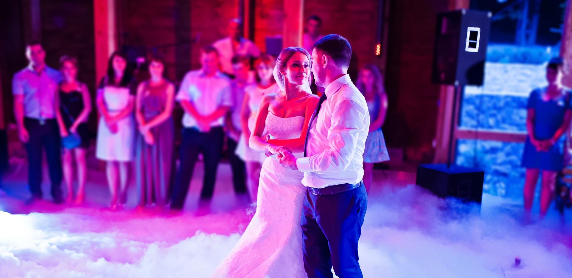 Climactic Entertainment offers affordable wedding dj services that feature low lying fog machines and confetti blasts.