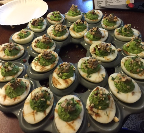 deviled egg 04: winner winner chicken liver!