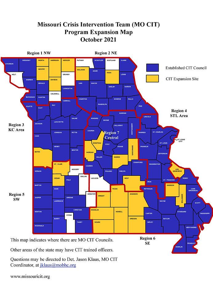 Missouri_CIT Map Oct 2021 with region lines.jpg