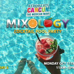 Mixology cocktail pool party