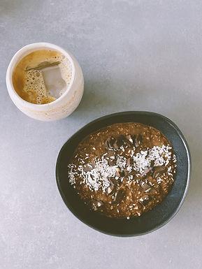 Overnight chia/oats/blomkål med kakao & apelsin