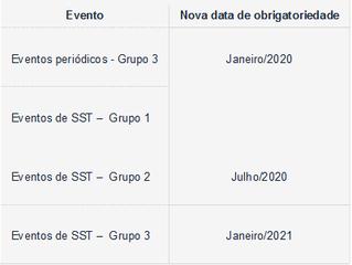 Mudanças no eSocial: calendário e simplificação dos eventos.