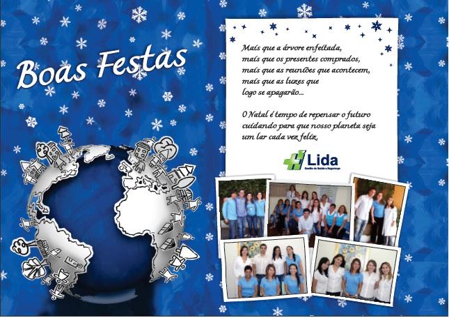 Cartão Natal Lida 2010