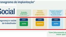 e-Social - Cronograma de Implantação