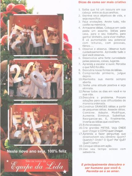 Cartão Natal Lida 2006
