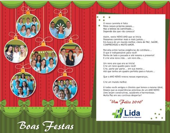 Cartão Natal Lida 2009
