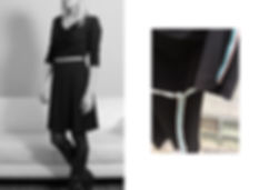 CONNI KAMINSKI AW18 BRUSSELS BEGIUM FASHION DESIGNER DRAPING DRESS BLACK