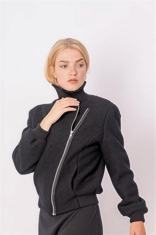Perfecto in Black Wool