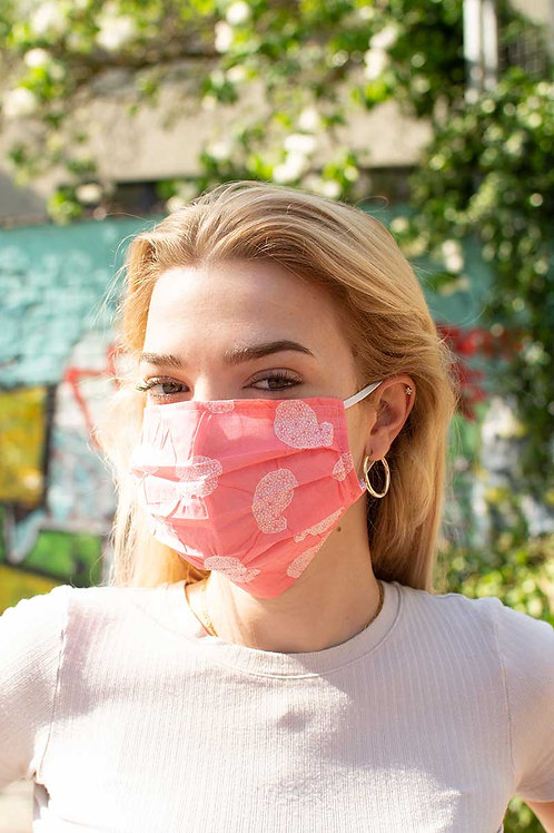 Cloth Face Mask in Rose