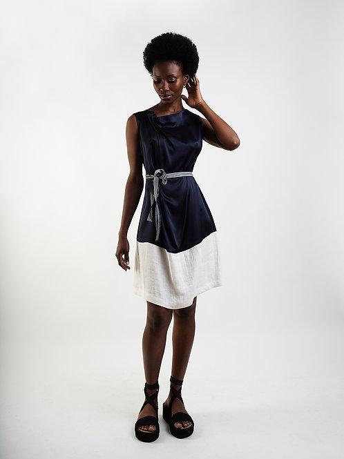 Sleeveless Silk/Linnen Dress