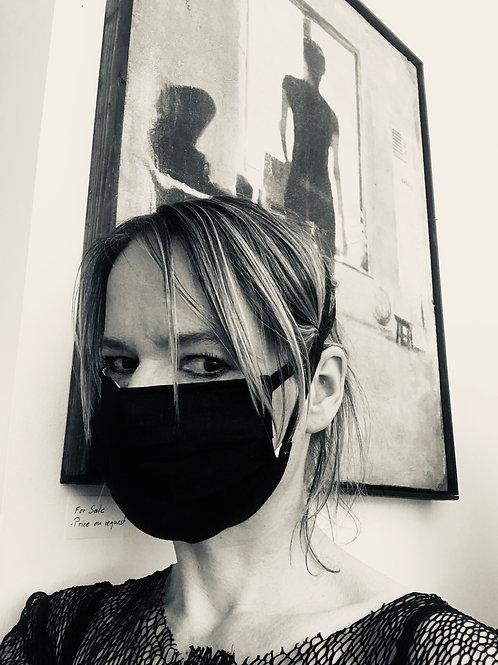 Face Mask in Black Linnen
