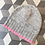 Thumbnail: Bonnet in Mohair in Grey/Pink