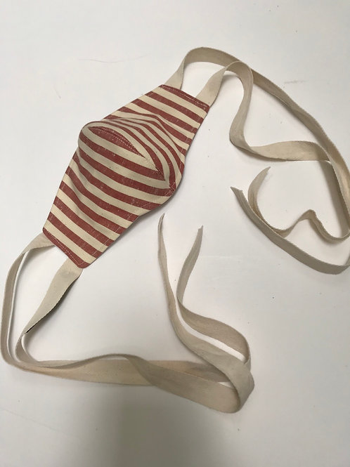 Red Stripes Fashion Mask With Bands