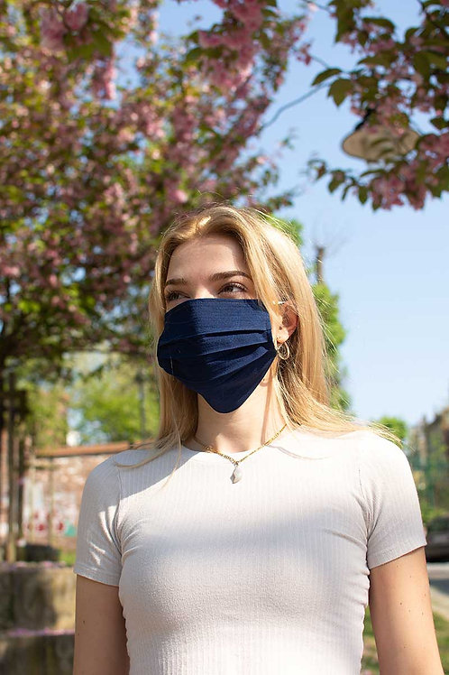 Face Mask Blue Cotton