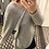 Thumbnail: Wool Pullover with draping in grey