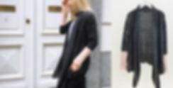 CONNI KAMINSKI AW16 BRUSSELS BEGIUM FASHION DESIGNER GREY KNIT CARDIGAN